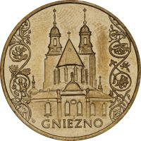 reverse of 2 Złote - Gniezno (2005) coin with Y# 564 from Poland. Inscription: GNIEZNO