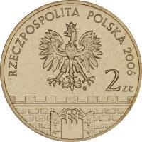 obverse of 2 Złote - Chełmno (2006) coin with Y# 545 from Poland. Inscription: RZECSPOSPOLITA POLSKA 2006 2 zł