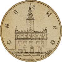 reverse of 2 Złote - Chełmno (2006) coin with Y# 545 from Poland. Inscription: CHEŁMNO