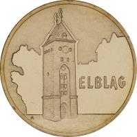 reverse of 2 Złote - Elbląg (2006) coin with Y# 546 from Poland. Inscription: ELBLĄG