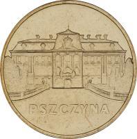 reverse of 2 Złote - Pszczyna (2006) coin with Y# 549 from Poland. Inscription: PSZCZYNA