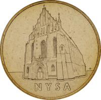reverse of 2 Złote - Nysa (2006) coin with Y# 570 from Poland. Inscription: NYSA