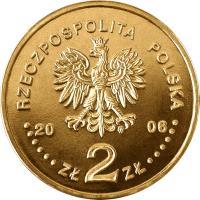 obverse of 2 Złote - History of the Polish Zloty: 10 zloty of 1932 issue (2006) coin with Y# 582 from Poland. Inscription: RZECZPOSPOLITA POLSKA 2006 ZŁ 2 ZŁ