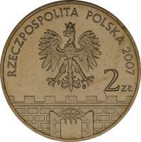 obverse of 2 Złote - Płock (2007) coin with Y# 617 from Poland. Inscription: RZECSPOSPOLITA POLSKA 2007 2 Zł