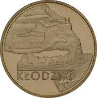 reverse of 2 Złote - Kłodzko (2007) coin with Y# 624 from Poland. Inscription: KŁODZKO