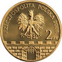 obverse of 2 Złote - Konin (2008) coin with Y# 631 from Poland. Inscription: RZECZPOSPOLITA POLSKA 2008 2 ZŁ
