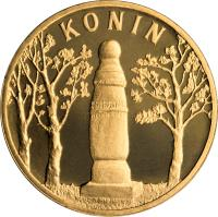 reverse of 2 Złote - Konin (2008) coin with Y# 631 from Poland. Inscription: KONIN
