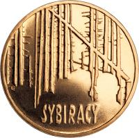 reverse of 2 Złote - Siberian Exiles (2008) coin with Y# 638 from Poland. Inscription: SYBIRACY
