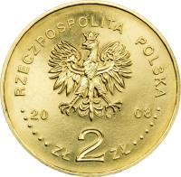 obverse of 2 Złote - Monuments of Material Culture in Poland - Kazimierz Dolny (2008) coin with Y# 641 from Poland. Inscription: RZECZPOSPOLITA POLSKA 2008 ZŁ 2 ZŁ