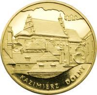 reverse of 2 Złote - Monuments of Material Culture in Poland - Kazimierz Dolny (2008) coin with Y# 641 from Poland. Inscription: KAZIMIERZ DOLNY