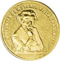 reverse of 2 Złote - 90th Anniversary of the Greater Poland Uprising (2008) coin with Y# 662 from Poland. Inscription: 90. ROCZNICA POWSTANIA WIELKOPOLSKIEGO