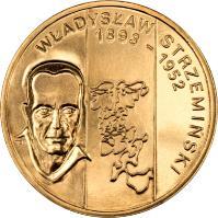 reverse of 2 Złote - Polish Painters of the Turn of 19th and 20th Centuries: Władysław Strzemiński (1893-1952) (2009) coin with Y# 705 from Poland. Inscription: WŁADYSŁAW STRZEMINSKI 1893 - 1952