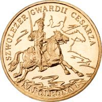 reverse of 2 Złote - Chevau-Légers of the Imperial Guard of Napoleon I (2010) coin with Y# 718 from Poland. Inscription: SZWOLEZER GWARDII CESARZA NAPOLEONA I
