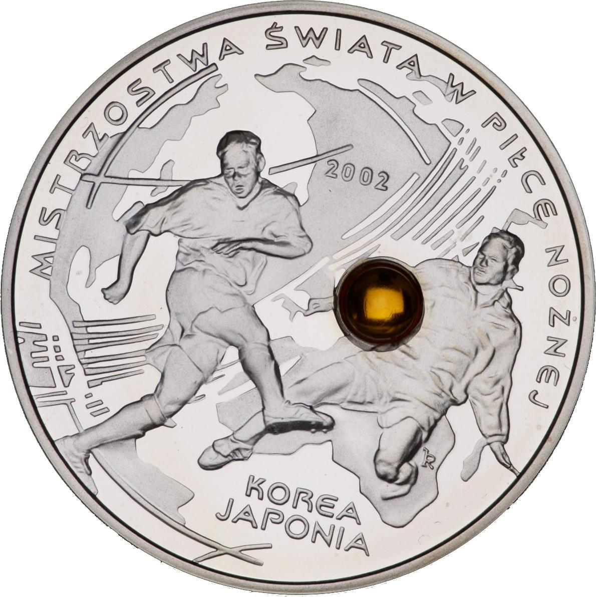 2002 MW silver 10 zlotych Korea Japonia MS w Pilce Noznej Poland