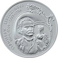reverse of 10 Złotych - Polish Kings and Princes: Stanisław Leszczyński (1704-1709; 1733-1736) (2003) coin with Y# 474 from Poland.