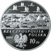 obverse of 10 Złotych - Polish Travelers and Explorers: Aleksander Czekanowski (1833-1876) (2004) coin with Y# 506 from Poland.