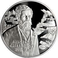 reverse of 10 Złotych - Polish Travelers and Explorers: Aleksander Czekanowski (1833-1876) (2004) coin with Y# 506 from Poland.