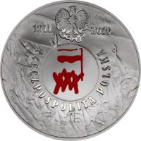 obverse of 10 Złotych - Polish August of 1980 (2010) coin with Y# 738 from Poland.