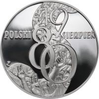 reverse of 10 Złotych - Polish August of 1980 (2010) coin with Y# 738 from Poland.