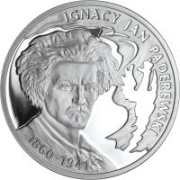 reverse of 10 Złotych - Ignacy Jan Paderewski (2011) coin with Y# 790 from Poland.