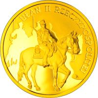 reverse of 200 Złotych - History of the Polish Cavalry – Uhlan of the Second Republic of Poland (2011) coin with Y# 782 from Poland.