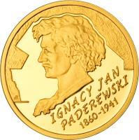 reverse of 200 Złotych - Ignacy Jan Paderewski (2011) coin with Y# 791 from Poland.