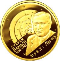 reverse of 200 Złotych - Stefan Banach (2012) coin with Y# 819 from Poland.