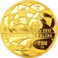 obverse of 200 Złotych - Polish Olympic Team – London 2012 (2012) coin with Y# 834 from Poland.
