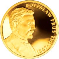 reverse of 200 Złotych - Boleslaw Prus (2012) coin with Y# 840 from Poland.
