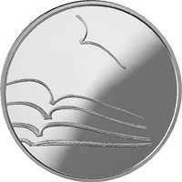 reverse of 5 Euro - Lithuanian culture - Literature (2015) coin from Lithuania.