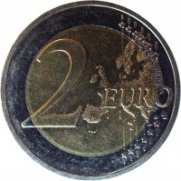 reverse of 2 Euro - 25 years of German Unity (2015) coin with KM# 337 from Germany. Inscription: 2 EURO LL
