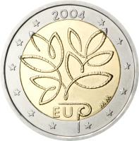 obverse of 2 Euro - Enlargement of the European Union by ten new Member States (2004) coin with KM# 114 from Finland.