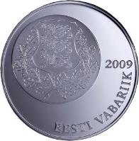 obverse of 10 Krooni - Song and dance festival tradition (2009) coin with KM# 51 from Estonia. Inscription: 2009 EESTI VABARIIK