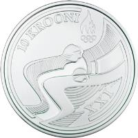 reverse of 10 Krooni - Vancouver Winter Olympic Games (2010) coin with KM# 53 from Estonia. Inscription: 10 KROONI XXI