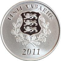 obverse of 10 Euro - Changeover to the euro (2011) coin with KM# 71 from Estonia. Inscription: EESTI VABARIIK 2011