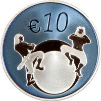 reverse of 10 Euro - Changeover to the euro (2011) coin with KM# 71 from Estonia. Inscription: € 10