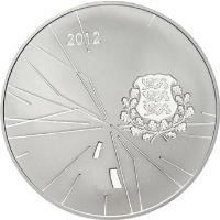 obverse of 12 Euro - London Summer Olympic Games (2012) coin with KM# 72 from Estonia. Inscription: 2012