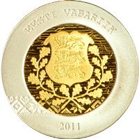 obverse of 20 Euro - Changeover to the euro (2011) coin with KM# 69 from Estonia. Inscription: EESTI VABARIIK 2011