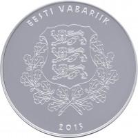 obverse of 10 Euro - Work of Eduard Vilde (2015) coin from Estonia. Inscription: EESTI VABARIIK 2015