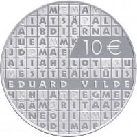 reverse of 10 Euro - Work of Eduard Vilde (2015) coin from Estonia. Inscription: 10€ EDUARD VILDE