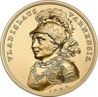 reverse of 500 Złotych - Treasures of Stanislaw August: Ladislas of Varna (2015) coin with Y# 941 from Poland. Inscription: VLADISLAVUS VARNENSIS. I.P.H.F.