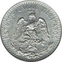 obverse of 20 Centavos (1919) coin with KM# 436 from Mexico. Inscription: ESTADOS UNIDOS MEXICANOS