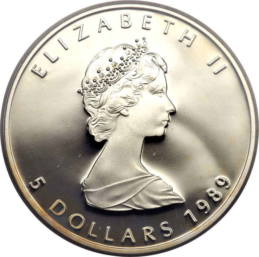 5 Dollars Elizabeth Ii Silver Bullion 2 Nd Portrait