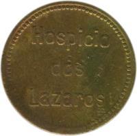 reverse of 200 Réis - Santa Casa de Misericordia; Leprosarium Coinage (1920) coin with KM# L7 from Brazil. Inscription: Hospicio dos Lazaros