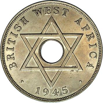 1 Penny - George VI - Mule (1945) British West Africa KM# 25
