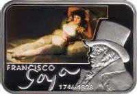 reverse of 1 dollar - Elizabeth II - Famous Painters: Francisco Goya (2010) coin with KM# 432 from Niue.