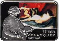 reverse of 1 dollar - Elizabeth II - Famous Painters: Diego Velazquez (2011) coin with KM# 585 from Niue.