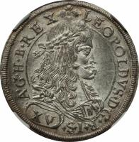 obverse of 1 Taler - Leopold I - Graz mint (1675 - 1694) coin with KM# 1279 from Austria.