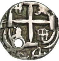 obverse of 1 Real - Fernando VI (1751 - 1759) coin with KM# 37 from Bolivia.