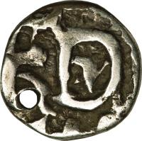 reverse of 1/2 Real - Fernando VI (1747 - 1760) coin with KM# 36 from Bolivia.